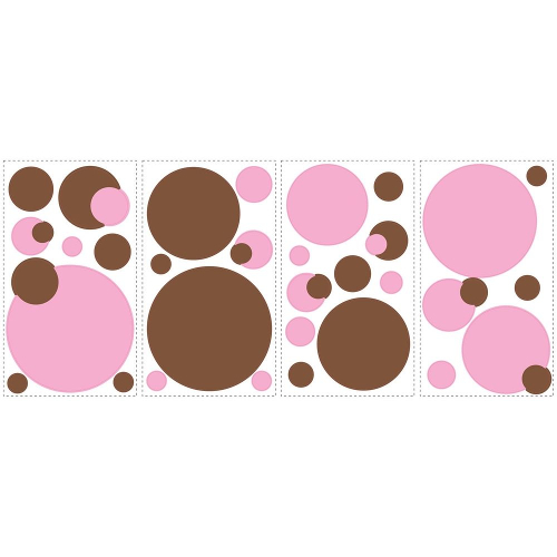 RoomMates Peel and Stick Wall Decals - Pink Dots 46A-R75-RMK1245SCS