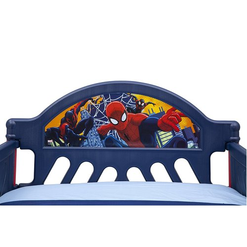 Delta Marvel Ultimate Spider-Man Plastic Toddler Bed - Blue/Red 46K-G56-BB87067SM