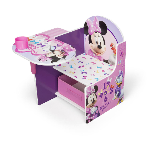 Delta Disney Minnie Mouse Desk and Chair with Storage Bin 46O-G56-TC85663MN