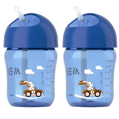 Philips Avent Straw Cup 9oz. 2 Pack - Blue 46F-H81-SCF760/22