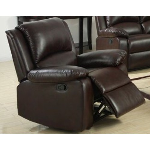 Recliner Leather Chair - Brown 47R-O47-CM6555C