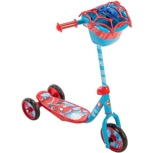 Huffy Marvel Spider-Man 3-Wheel Scooter with Handlebar Bag 12S-796-28668