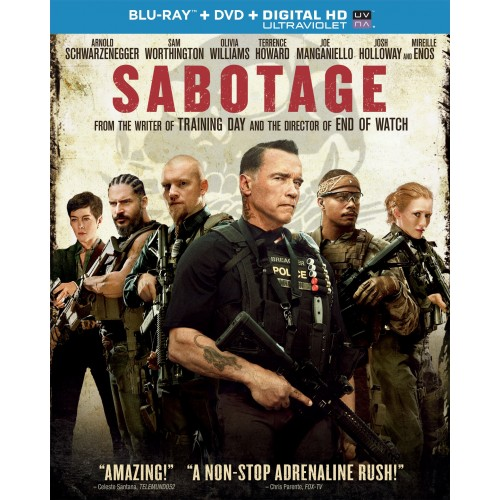 Sabotage - Blu-Ray + DVD + Digital Copy Ultraviolet 36A-G30-MCABR6113067