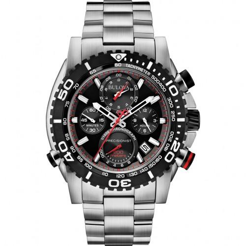 Bulova Men's Precisionist Chronograph Watch - Silver
