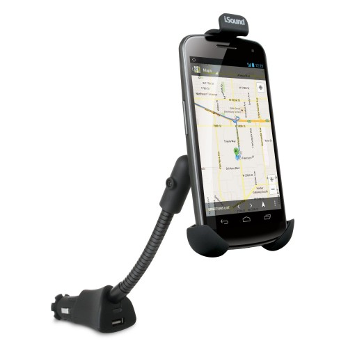 Dreamgear iPhone/Smartphone USB Power Mount Charger - Black