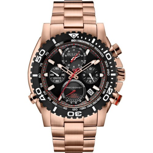 Bulova Men's Precisionist Chronograph Round Watch - Rose Gold