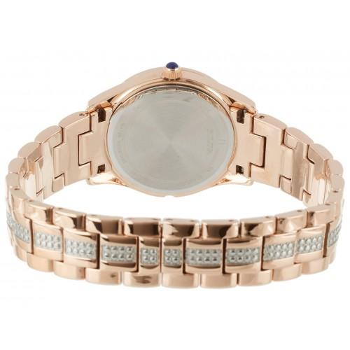 Bulova Women's Crystal Round Watch - Rose Gold
