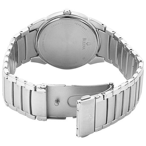 Bulova Men's Stainless Steel Bracelet Watch - Silver