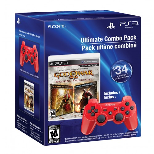 God of War Origins Collection with Dualshock 3 Wireless Controller 08A-G58-PS3/SCE98336