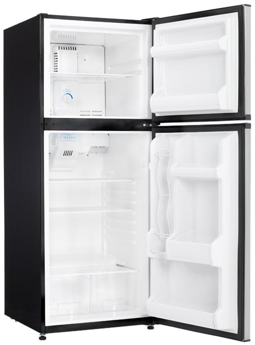 refrigerator 10 cu ft. danby dff100c1bsld 10 cu. ft. top freezer refrigerator - stainless steel cu ft