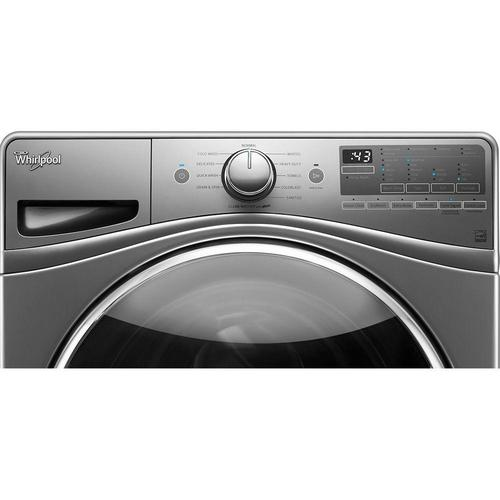 Whirlpool WFW90HEFC 4.5 Cu. Ft. 11-Cycle High-Efficiency Front Load Washer with Steam - Chrome Shadow 52B-166-WFW90HEFC