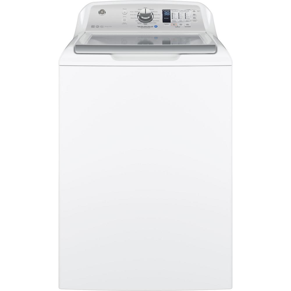 GE 4.5 Cu. Ft. 14-Cycle High-Efficiency Top-Loading Washer - White 52B-422-GTW685BSLWS