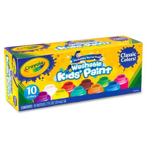 Crayola Washable Kid's Paint - 10 Count 12M-S50-541205