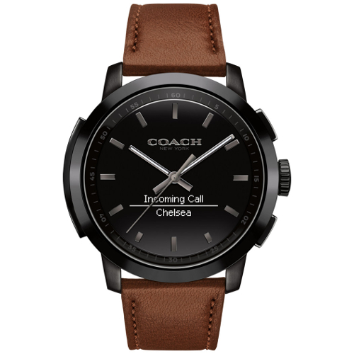 Coach Men's Bleecker Smart Brown Leather Strap Smart Watch