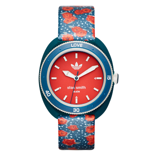 Adidas Men's Stan Smith Red Round Dial Nylon Strap Watch - Red/Blue 60A-O48-ADH3179