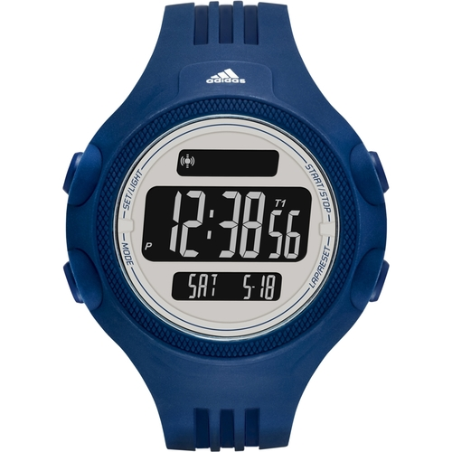 Adidas Performance Men's Questra Rubber Strap Watch - Navy Blue