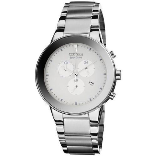 Citizen Men's Eco-Drive Axiom Chronograph Watch - Silver