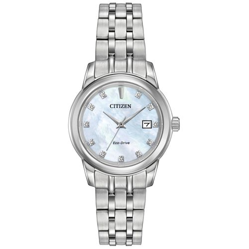 Citizen Women's Eco-Drive Diamond Accent Stainless Steel