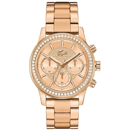 Lacoste Women's Chronograph Charlotte Stainless Steel Bracelet Watch - Rose Gold