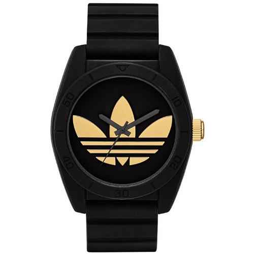 Adidas Santiago Silicone Strap Watch - Black