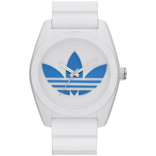 Adidas Santiago Silicone Strap Watch - White