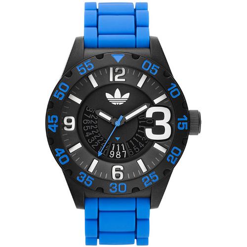 Adidas Newburgh Men's Silicone Strap Watch - Blue