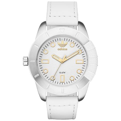 Adidas Originals Women's Leather Strap Watch - White