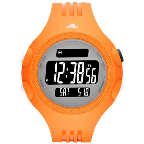 Adidas Performance Digital Questra Polyurethane Strap Watch - Orange
