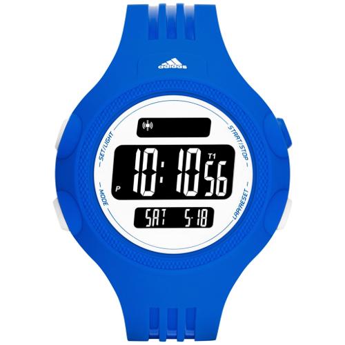 Adidas Performance Digital Questra Polyurethane Strap Watch - Blue