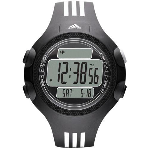 Adidas Performance Men's Digital Questra Polyurethane Strap Watch - Black 60A-O48-ADP6081