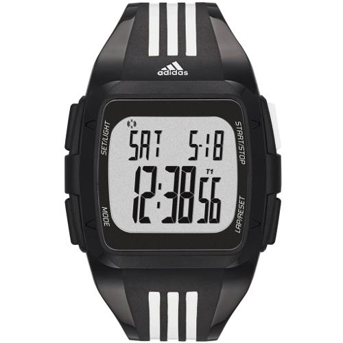 Adidas Performance Men's Digital Duramo Polyurethane Strap Watch - Black 60A-O48-ADP6089