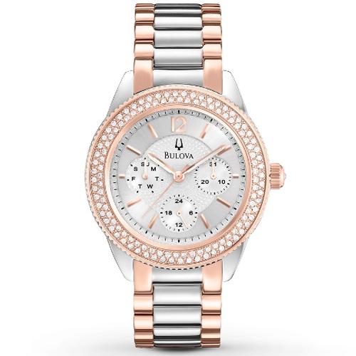 Bulova Women's Multi-Function Crystal Bracelet Watch