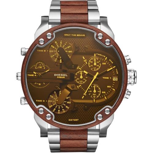 Diesel Mr. Daddy 2.0 Chronograph Silver Tone Stainless Steel Bracelet Watch