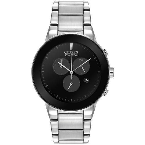 Citizen Men's Chronograph Axiom Eco-Drive Stainless Steel Bracelet Watch - Silver