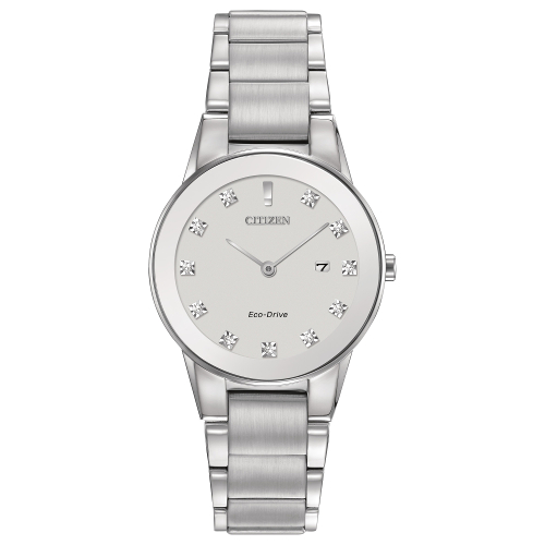 Citizen Women's Eco-Drive Axiom 11 Diamond Accent Bracelet Watch - Silver