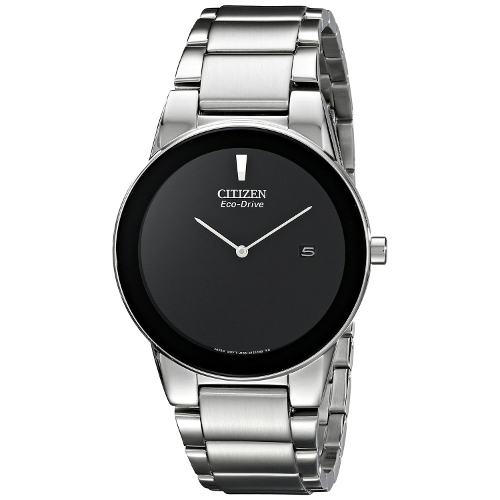 Citizen Women's Eco-Drive Axiom Black Dial Stainless Steel Bracelet Watch - Silver