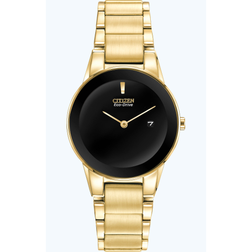 Citizen Women's Eco-Drive Axiom Stainless Steel Bracelet Watch - Gold
