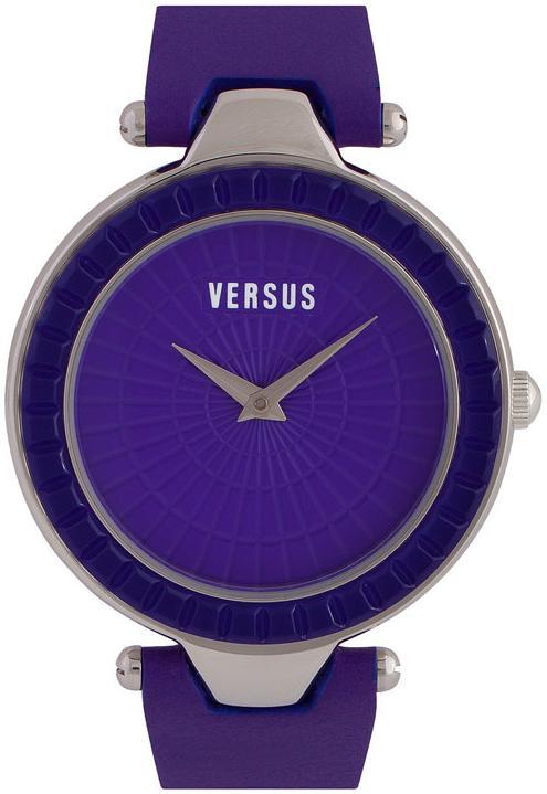 Versus by Versace Sertie Women's Leather Strap Watch - Purple