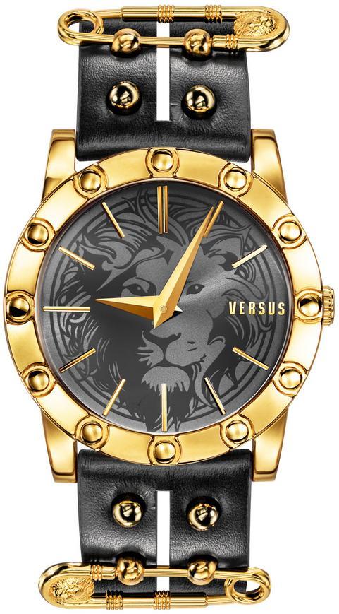 Versus by Versace Women's Miami Leather Strap Watch - Black