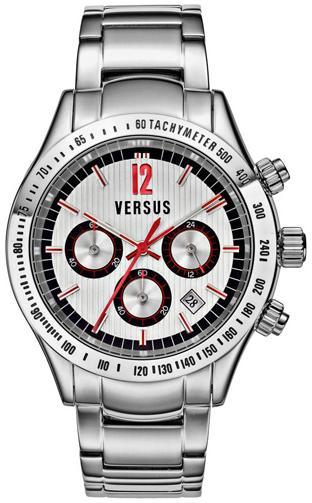 Versus by Versace Men's Cosmopolitan Chronograph Stainless Steel Bracelet Watch - Silver