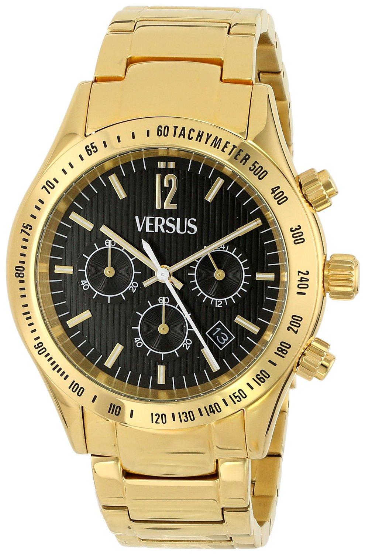 Versus by Versace Men's Cosmopolitan Ion-Plated Stainless Steel Watch - Gold