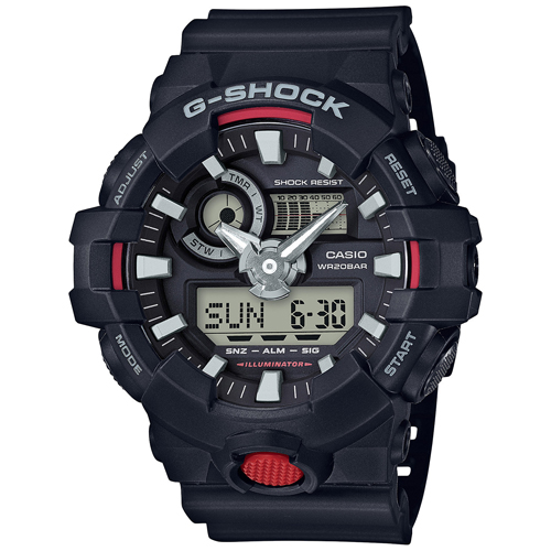 Casio G-Shock Men's Analog-Digital Black Resin Strap Watch