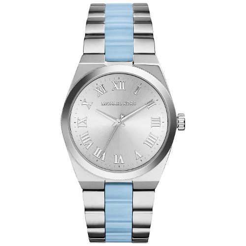Michael Kors Channing Women's Silver-Tone Acetate Watch