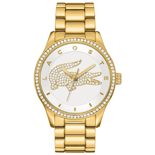 Lacoste Women's Victoria Ion-Plated Stainless Steel Bracelet Watch - Gold
