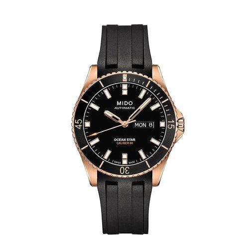 Mido Men's Ocean Star Captain V Rubber Strap Automatic Watch - Black
