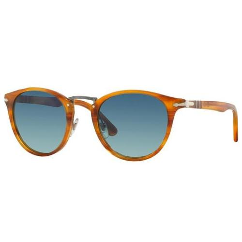 Persol PO3108S Sunglasses - Stripped Brown / Light Blue Gradient Polar 675-G65-PO3108S49960