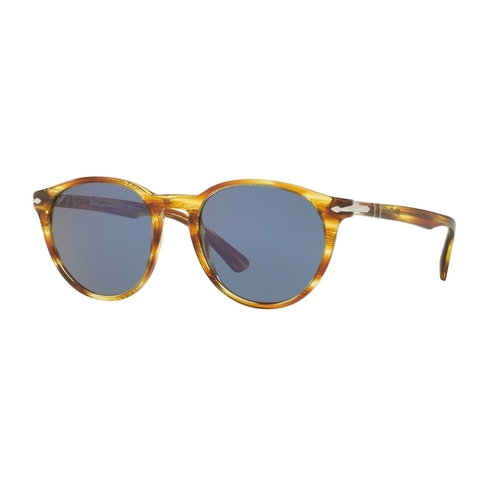 Persol PO3152S Sunglasses - Striped Brown Yellow / Crystal Blue 675-G65-PO3152S52904