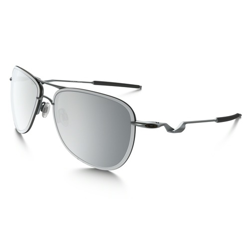 Oakley Men's Tailpin Aviator Sunglasses - Lead/Chrome Iridium