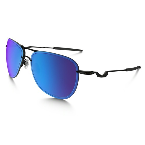 Oakley Men's Tailpin Aviator Sunglasses - Satin Black/Sapphire Iridium Polarised