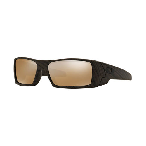 Oakley Men's Gascan Sunglasses - Woodgrain / Tungsten Iridium Polarized 67H-F99-OO9014/07